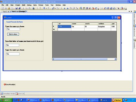 Search Records Search Records Using Textbox In Vb Net