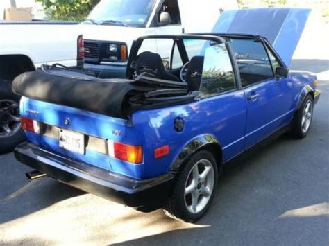 1982 Volkswagen Rabbit Convertible by Purchase Used 1982 Vw Rabbit Convertible 2 0l 16v Weber