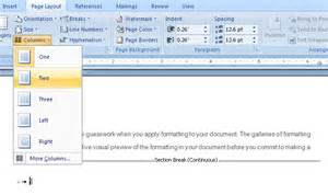 Office Page How To Combine Single And Two Column Formats On The Same