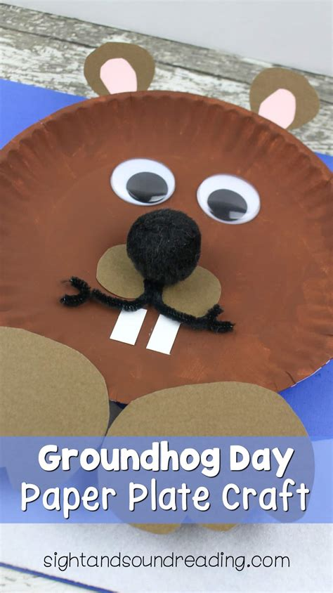 Day Paper Crafts - groundhog day paper plate craft mrs karles sight and