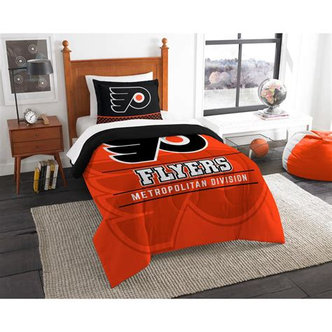 flyers comforter set nhl flyers draft 2 piece multi color polyester twin