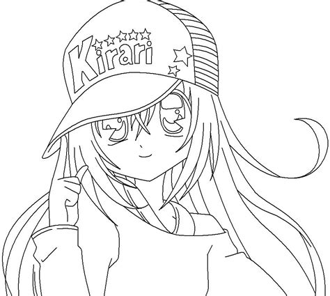 free anime coloring pages kirari gianfreda net