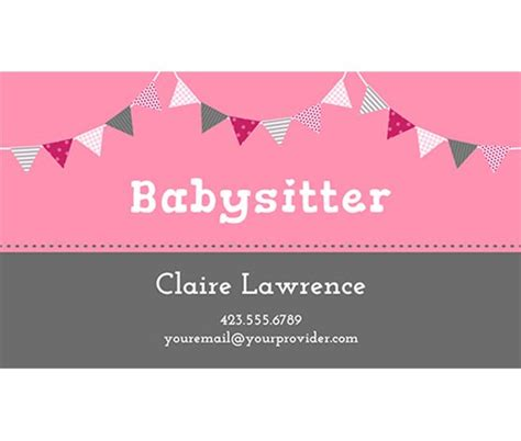 babysitting business cards templates free 17 best images about babysitting syd scrapbook kit