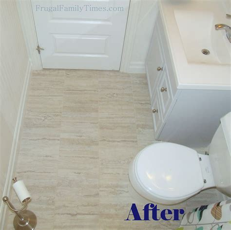 install peel  stick vinyl tiles    grout frugal family times