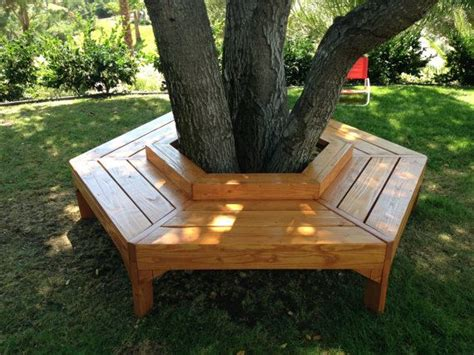 bench around tree trunk beautiful wooden hand crafted and custom tree benches