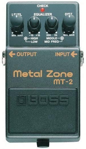 layout efek gitar metal zone boss mt 2 metal zone distortion pedalı