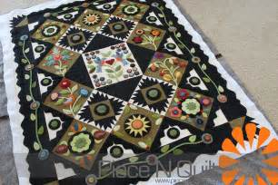 n quilt wool applique quilt