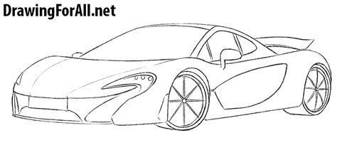 mclaren p1 drawing easy how to draw a mclaren p1 drawingforall net