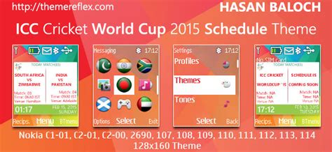 nokia 2690 cricket themes icc cricket world cup 2015 themes themereflex
