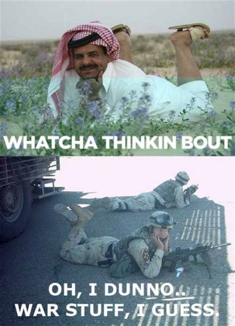 Funny Soldier Memes - whatcha thinking about military humor
