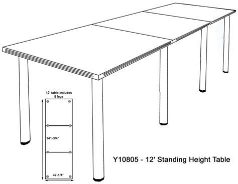 standing height conference table standing height conference tables in white mocha maple