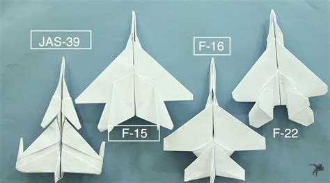 Origami F22 - c 225 ch gấp m 225 y bay giấy f22 origami