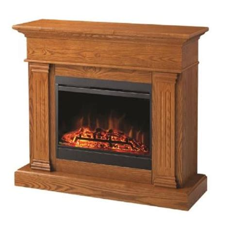 electric fireplaces at home depot muskoka noble 45 in electric fireplace in oak mef287ok
