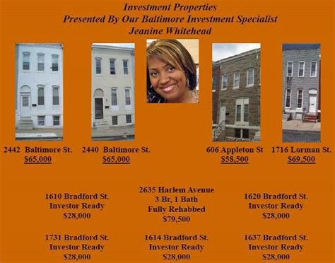 baltimore city section 8 waiting list baltimore investment townhomes galore