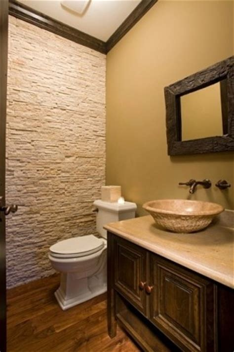 powder room accent wall ideas stone accent wall for powder room for the home pinterest