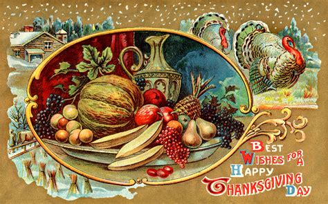 Thanksgiving Free Clip Vintage by Clip Of A Vintage Thanksgiving Card Wallpaper Hd