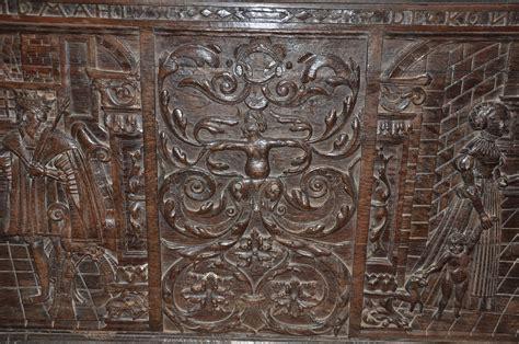 Esther Wide Oak carved oak panel sold antiques