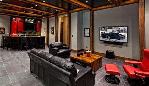 millionaire mancave garage  images man cave sofa