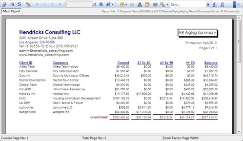 Quickbooks Accounts Receivable Aging Report by Invoice Aging Report Excel Template Invoice Exle