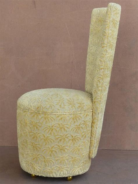 Upholstered Dining Chairs Casters Custom Made Upholstered Dining Chairs On Casters Set Of Six For Sale At 1stdibs