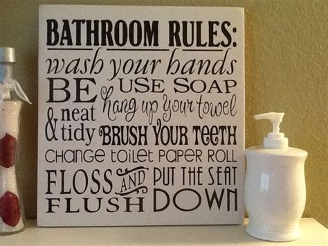 kids bathroom rules home decor bathroom rules wonderful for kid s or guest