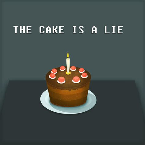 The Portal the portal cake is a lie by andrejaz on deviantart
