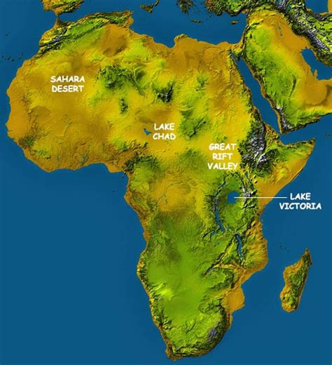 africa map mountains africa map map of africa facts geography history of