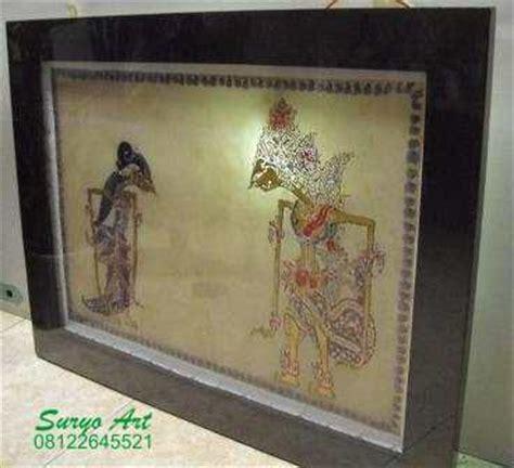 Tulis Hiasan Lukisan Wayang Kulit Bima Werkudara Kulit Asli kerajinan wayang kulit souvenir khas jawa suryo