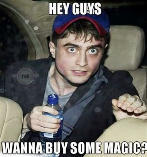 Magic Meme - daniel radcliffe harry potter wanna buy some magic meme