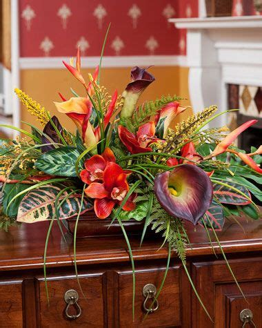 orchid calla lily centerpiece artificial flower