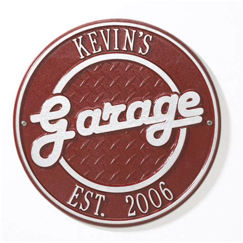Personalized Garage Sign by Note Allow Of Weeks For Delivery