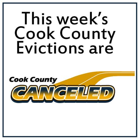 Cook County Eviction Search Cook County Cancels Evictions For The Week Of January 5 2015 Eviction Attorneys