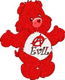 Care bears evil anarchy cartoon character graphics for facebook