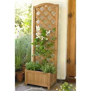 wooden trellis planter wooden planter with trellis in uncategorised at lakeland
