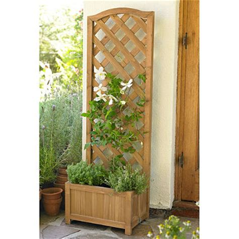 Wooden Planters With Trellis by Wooden Planter With Trellis In Uncategorised At Lakeland