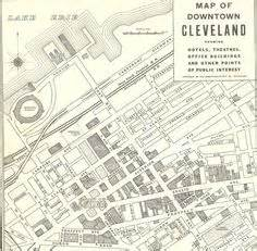 downtown cleveland map akron ohio 1937 downtown map genealogy helsel white