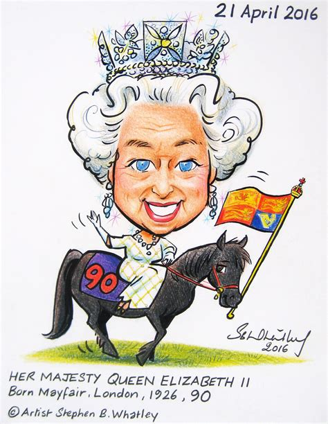 HM The Queen at 90 - Cartoon Tribute 2016 by Stephen B. Wh ... Free Clipart Queen Elizabeth
