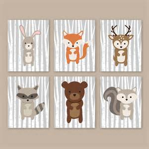 Woodland Creatures Nursery Decor Woodland Nursery Wall Forest Animals Woodland Wall