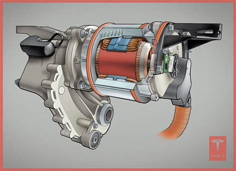 Tesla Motors Engine Tesla Motor Cut Away On Behance