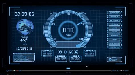 after effects template free iron man holographic hologram ui rainmeter youtube