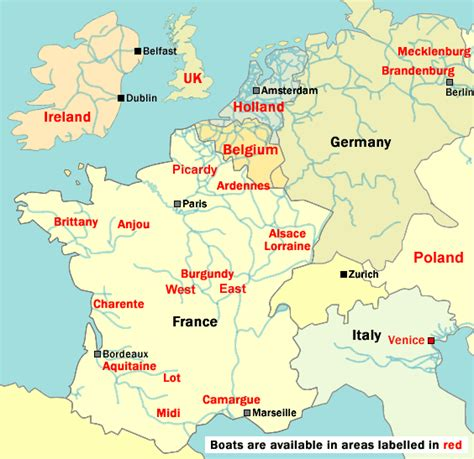 boating european canals boating holidays map of europe cruise routes and canals