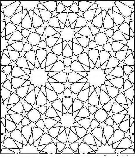 islamic mosaic coloring pages moroccan mosaic pattern and geometry pinterest