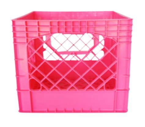 pink crate pink milk crate design decoration