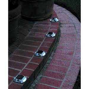 flat solar lights pack of 4 solar pathway markers