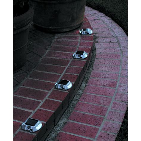 one stop gardens solar light pack of 4 solar pathway markers