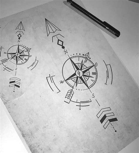 geometric designs using compass geometric compass arrow tattoos about arrow compass
