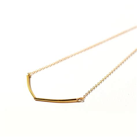 delicate gold chevron necklace by minetta jewellery