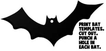 bat cut out template how to make a bats mobile for crafts