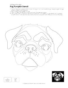 pug pumpkin stencil pug pumpkin carving patterns search fall pumpkin carving