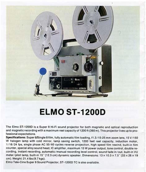 Elmo St 1200d Projector Super8wiki